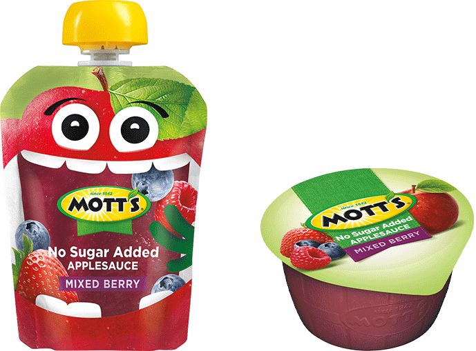 Mott's® No Sugar Added Applesauce Mixed Berry