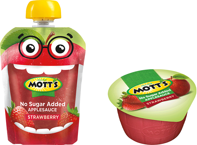 Mott's® No Sugar Added Applesauce Strawberry