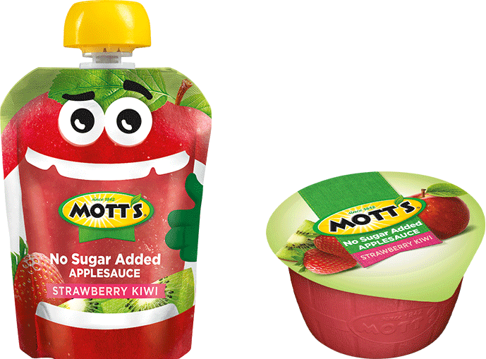 Mott's® No Sugar Added Applesauce Strawberry Kiwi