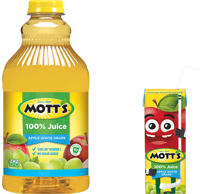 Mott's 100% Apple White Grape Juice