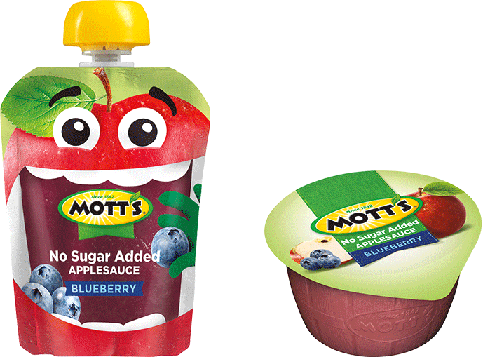 Mott's No Sugar Added Applesauce Blueberry