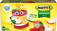 Mott's® Applesauce Apple 3.2oz 12-pack clear pouches box