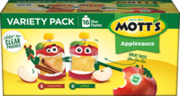 Mott's® Applesauce Apple 3.2oz 16-pack clear pouches variety box