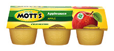 Mott's® Applesauce Apple 4 oz. 6-pack cups4 oz. 18-pack cups4 oz. 36-pack cups