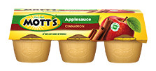 Mott's® Applesauce Cinnamon 4 oz. 6-pack cups4 oz. 18-pack cups4 oz. 36-pack cups assorted Apple and Cinnamon