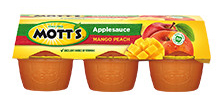 Mott's® Applesauce Mango Peach 4 oz. 6-pack cups