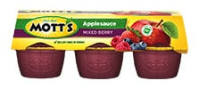 Mott's® Applesauce Mixed Berry 4 oz. 6-pack cups