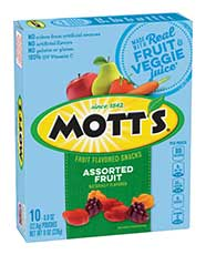 Mott's® Assorted Fruit Flavored Snacks  10-count
