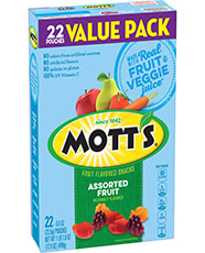 Mott's® Assorted Fruit Flavored Snacks  22-count value pack