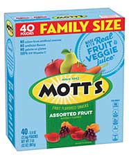 Mott's® Assorted Fruit Flavored Snacks  40-count