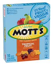 Mott's® Fruit Flavored Snacks - Tropical 10-count