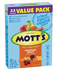 Mott's® Fruit Flavored Snacks - Tropical 22-count value pack