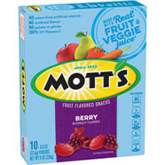 Mott's® Fruit Flavored Snacks - Berry 10-count