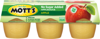 Mott's® No Sugar Added Applesauce Apple 3.9 oz. 6-pack cups