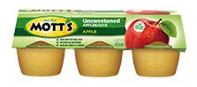 Mott's® No Sugar Added Applesauce Apple 3.9oz. 18-pack cups