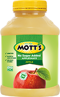 Mott's® No Sugar Added Applesauce Apple 4.6oz. jar