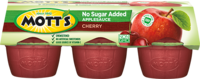 Mott's® No Sugar Added Applesauce Cherry 3.9oz 6-pack cups