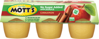 Mott's® No Sugar Added Applesauce Cinnamon 3.9oz 6-pack cups