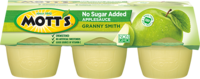 Mott's® No Sugar Added Applesauce Granny Smith 3.9oz 6-pack cups