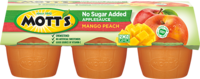 Mott's® No Sugar Added Applesauce Mango Peach 3.9oz 6-pack cups