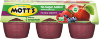 Mott's® No Sugar Added Applesauce Mixed Berry 3.9oz 6-pack cups