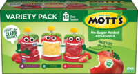 Mott's® No Sugar Added Applesauce Strawberry 3.2oz 16-pack clear pouches variety box